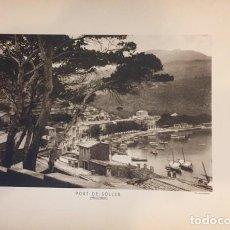 Arte: LAMINA DE PORT SOLLER MALLORCA, HUECOGRABADO AÑOS 30-40 WUNDERILCH. Lote 196993412