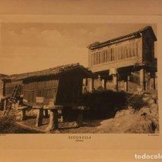 Arte: LAMINA DE REDONDELA, PONTEVEDRA,HORREOS, HUECOGRABADO AÑOS 30-40, WUNDERLICH, Nº 6255. Lote 197028607