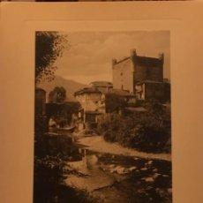 Arte: LAMINA PICOS DE EUROPA, POTES CANTABRIA HUECOGRABADO AÑOS 30-40, WUNDERLICH.. Lote 197030477