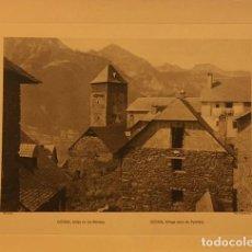 Arte: LAMINA DE GISTAIN, HUESCA ALDEA EN LOS PIRINEOS, HUECOGRABADO AÑOS 30-40, WUNDERLICH. Lote 197031741