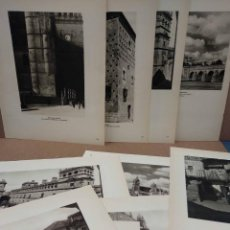 Arte: LOTE 10 FOTOGRAFIAS HUECOGRABADO DE SALAMANCA DE JOSE ORTIZ ECHAGUE. Lote 198365046