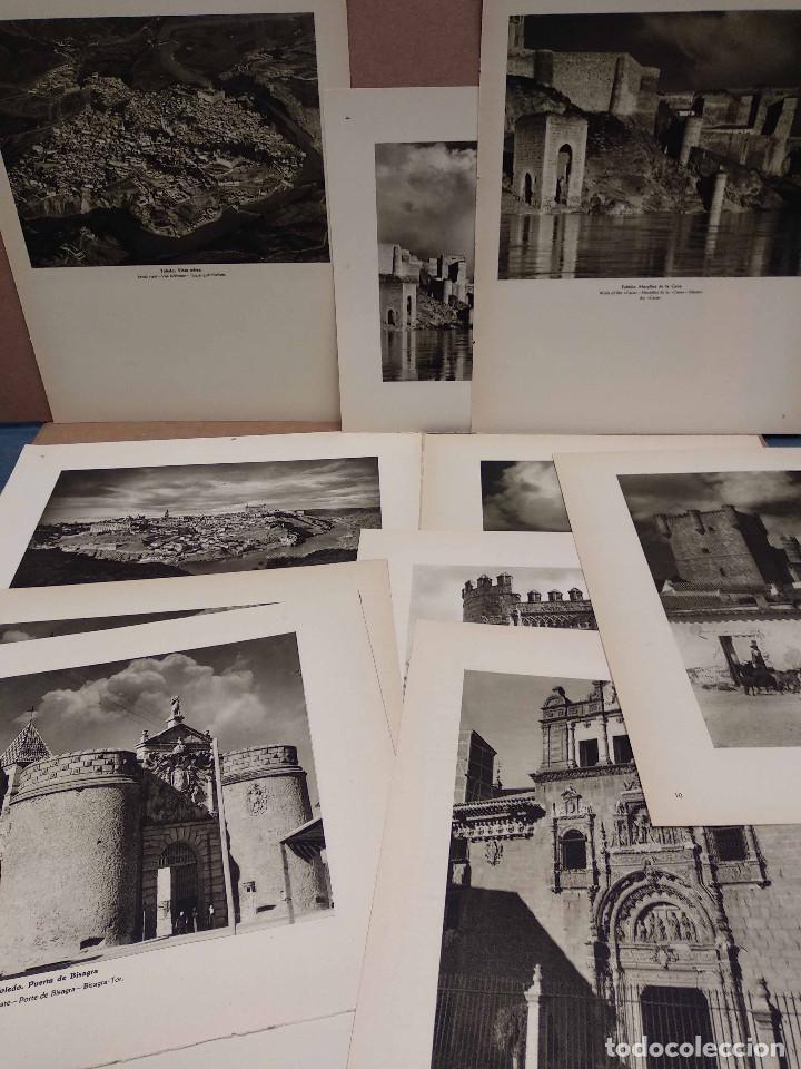 LOTE 10 FOTOGRAFIAS HUECOGRABADO DE TOLEDO DE JOSE ORTIZ ECHAGUE (Arte - Huecograbado)