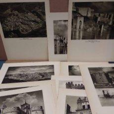 Arte: LOTE 10 FOTOGRAFIAS HUECOGRABADO DE TOLEDO DE JOSE ORTIZ ECHAGUE. Lote 198365331
