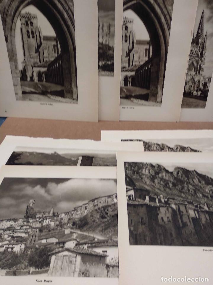 LOTE 8 FOTOGRAFIAS HUECOGRABADO DE BURGOS DE JOSE ORTIZ ECHAGUE (Arte - Huecograbado)