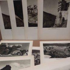 Arte: LOTE 9 FOTOGRAFIAS HUECOGRABADO DE CUENCA DE JOSE ORTIZ ECHAGUE. Lote 198387998
