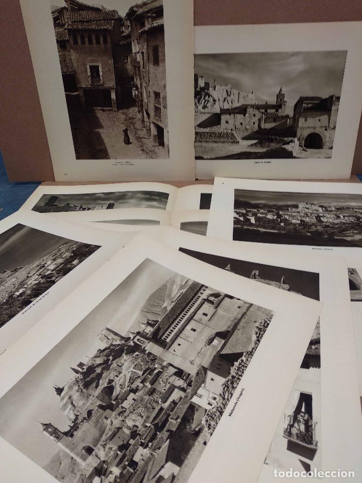 LOTE 10 FOTOGRAFIAS HUECOGRABADO DE ARAGON DE JOSE ORTIZ ECHAGUE (Arte - Huecograbado)