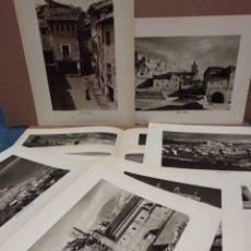 Arte: LOTE 10 FOTOGRAFIAS HUECOGRABADO DE ARAGON DE JOSE ORTIZ ECHAGUE. Lote 198388126