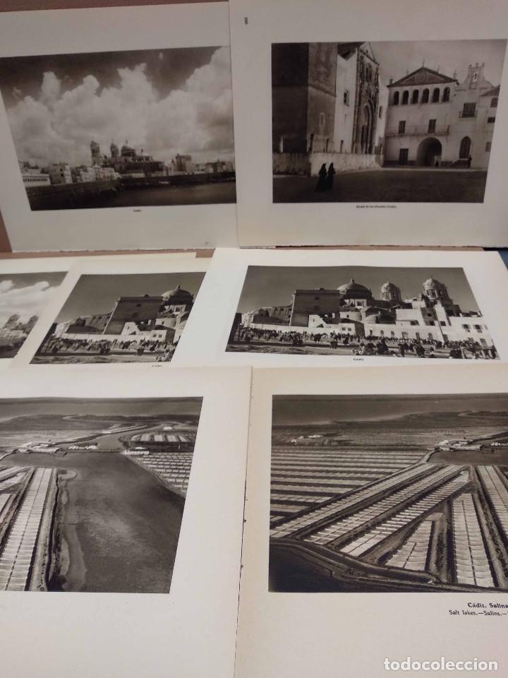 LOTE 7 FOTOGRAFIAS HUECOGRABADO DE CADIZ DE JOSE ORTIZ ECHAGUE (Arte - Huecograbado)