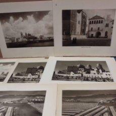 Arte: LOTE 7 FOTOGRAFIAS HUECOGRABADO DE CADIZ DE JOSE ORTIZ ECHAGUE. Lote 198468171