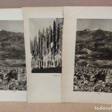 Arte: LOTE 3 FOTOGRAFIAS HUECOGRABADO DE JAEN DE JOSE ORTIZ ECHAGUE. Lote 198468332