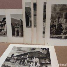 Arte: LOTE 7 FOTOGRAFIAS HUECOGRABADO DE SANTANDER DE JOSE ORTIZ ECHAGUE. Lote 198471720