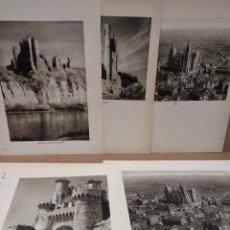 Arte: LOTE 5 FOTOGRAFIAS HUECOGRABADO DE LEON DE JOSE ORTIZ ECHAGUE. Lote 198471937