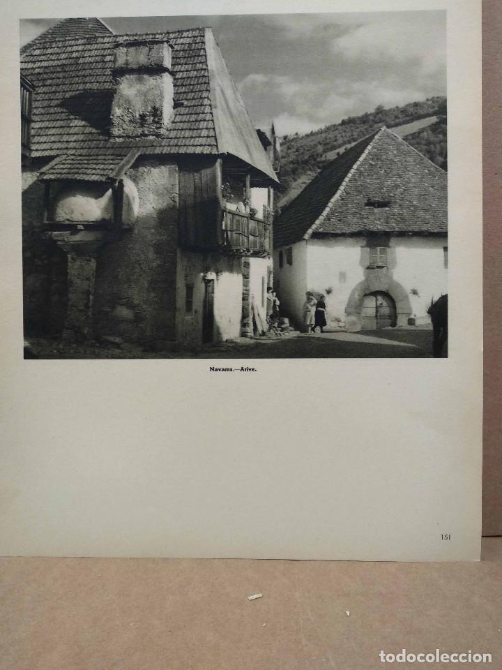 Arte: Lote 12 fotografias huecograbado de Navarra de Jose Ortiz Echague - Foto 2 - 198472198