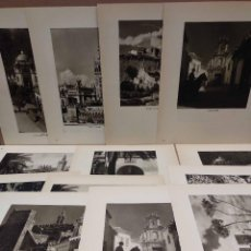 Arte: LOTE 13 FOTOGRAFIAS HUECOGRABADO DE SEVILLA DE JOSE ORTIZ ECHAGUE. Lote 199261335