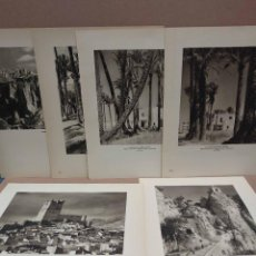 Arte: LOTE 6 FOTOGRAFIAS HUECOGRABADO DE ALICANTE DE JOSE ORTIZ ECHAGUE. Lote 199300825