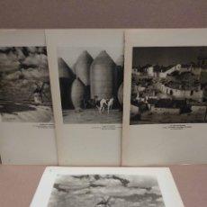 Arte: LOTE 4 FOTOGRAFIAS HUECOGRABADO DE LA MANCHA DE JOSE ORTIZ ECHAGUE. Lote 199301052