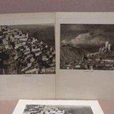 Arte: LOTE 3 FOTOGRAFIAS HUECOGRABADO DE ALMERIA DE JOSE ORTIZ ECHAGUE. Lote 199301148
