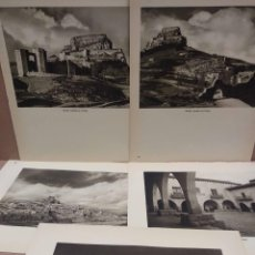 Arte: LOTE 5 FOTOGRAFIAS HUECOGRABADO DE CASTELLON DE JOSE ORTIZ ECHAGUE. Lote 199301331