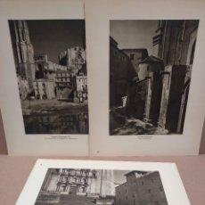 Arte: LOTE 3 FOTOGRAFIAS HUECOGRABADO DE GERONA DE JOSE ORTIZ ECHAGUE. Lote 199303003