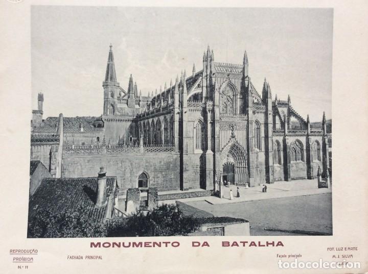 MONUMENTO DA BATALHA. EDITADO POR FOTO. LUZ E ARTE DE M. J. SILVA, LEIRIA. AÑOS 40 (Arte - Huecograbado)