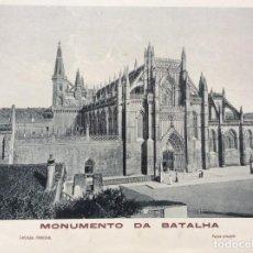Arte: MONUMENTO DA BATALHA. EDITADO POR FOTO. LUZ E ARTE DE M. J. SILVA, LEIRIA. AÑOS 40. Lote 199494271