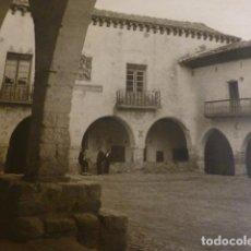 Art: CANTAVIEJA TERUEL PLAZA HUECOGRABADO AÑOS 50 25,5 X 30 CMTS. Lote 199968246