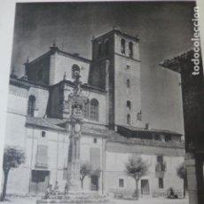 Art: PEÑARANDA DE DUERO BURGOS EL ROLLO E IGLESIA HELIOGRABADO 1928 G. BOUAN , VICENT FREAL ET CIE. PARIS. Lote 201305993
