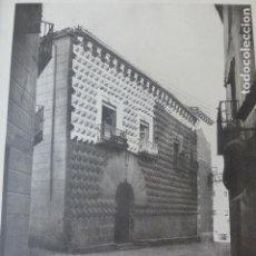 Arte: SEGOVIA CASA DE LOS PICOS HELIOGRABADO 1928 G. BOUAN , VICENT FREAL ET CIE. PARIS. Lote 201306448