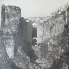 Arte: RONDA MALAGA EL TAJO HELIOGRABADO 1928 G. BOUAN , VICENT FREAL ET CIE. PARIS. Lote 201309537
