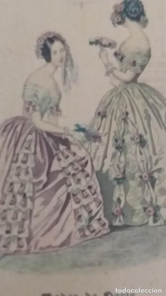 Arte: RECIOSO GRABADO SOBRE MADERA.MARCO EN DORADO.32X41CM-LEYENDA DE 15 FEVRIER 1843,Y AL OTRO LADO 1903 - Foto 2 - 206837733