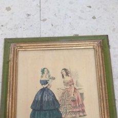 Arte: RECIOSO GRABADO SOBRE MADERA.MARCO EN DORADO.32X41CM-LEYENDA DE 15 FEVRIER 1843,Y AL OTRO LADO 1911. Lote 206837761
