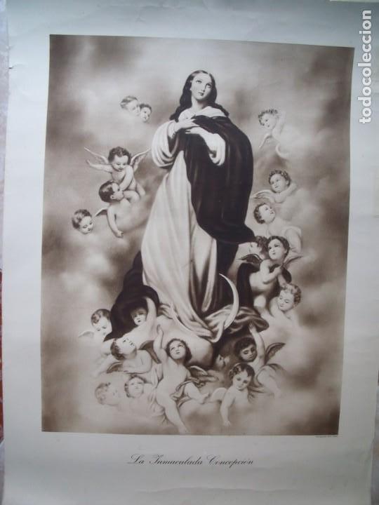LA INMACULADA CONCEPCION.-RELIGION.-HUECOGRABADO.-ARTE.-BILBAO.-MEDIDAS DE 76 X 56 CM. (Arte - Huecograbado)