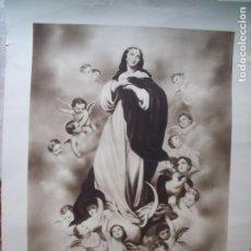 Arte: LA INMACULADA CONCEPCION.-RELIGION.-HUECOGRABADO.-ARTE.-BILBAO.-MEDIDAS DE 76 X 56 CM.. Lote 210617781