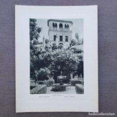 Arte: GRAN FOTOGRAFIA/FOTOTIPIA IMPRESA GENERALIFE GRANADA FOTO OTTO WUNDERLICH. Lote 213500986