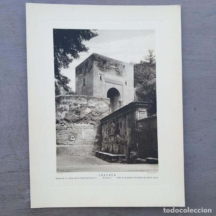 GRAN FOTOGRAFIA/FOTOTIPIA IMPRESA ALHAMBRA GRANADA FOTO OTTO WUNDERLICH, (Arte - Huecograbado)
