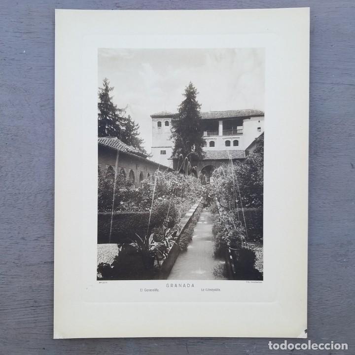 GRAN FOTOGRAFIA/FOTOTIPIA IMPRESA GENERALIFE GRANADA FOTO OTTO WUNDERLICH (Arte - Huecograbado)
