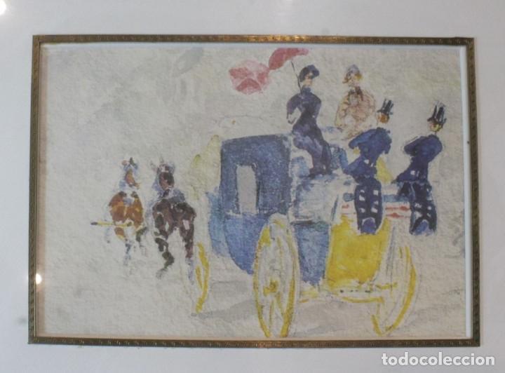 Arte: Lámina enmarcada en madera, reproducción de una pintura de Toulouse-Lautrec - Foto 2 - 216939216