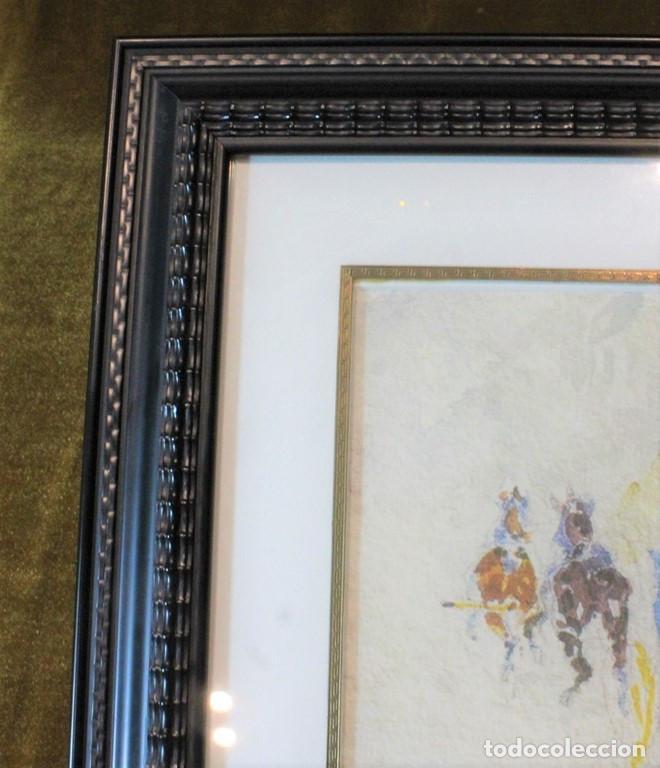 Arte: Lámina enmarcada en madera, reproducción de una pintura de Toulouse-Lautrec - Foto 3 - 216939216