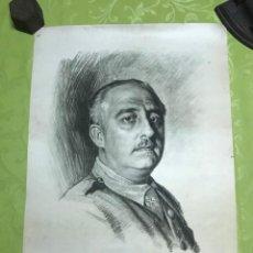 Arte: RETRATO DE FRANCISCO FRANCO POR ISMAEL BLAT- PRIMEROS HUECOGRABADOS DE HAUSER Y MENET. Lote 218055000