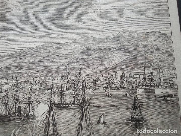 Arte: Gran litografia huecograbado. Arribo a Tolón - Foto 4 - 40576802