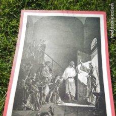 Arte: HUECOGRABADO LA RESURRECCIÓN DE LÁZARO [ SIMÓN EL LEPROSO ]. Lote 219326058
