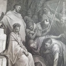 Arte: HUECOGRABADO DE JESUS INSULTADO, POR DORE. Lote 219328865