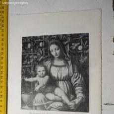 Arte: AÑO 1935 - RELIGIOSA - VIRGEN Y NIÑO JESUS EN LA ROSALEDA. Lote 223144153