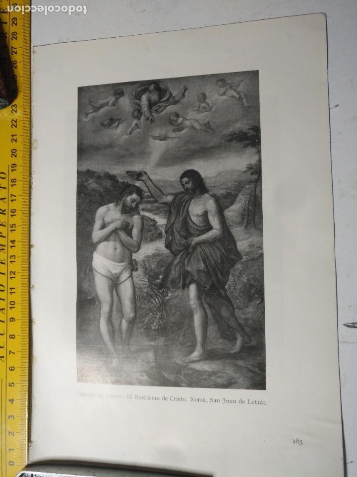 AÑO 1935 - RELIGIOSA - EL BAUTISMO DE CRISTO , SAN JUAN DE LETRAN (Arte - Huecograbado)