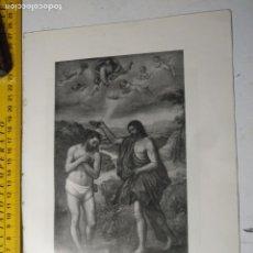 Arte: AÑO 1935 - RELIGIOSA - EL BAUTISMO DE CRISTO , SAN JUAN DE LETRAN. Lote 223144192
