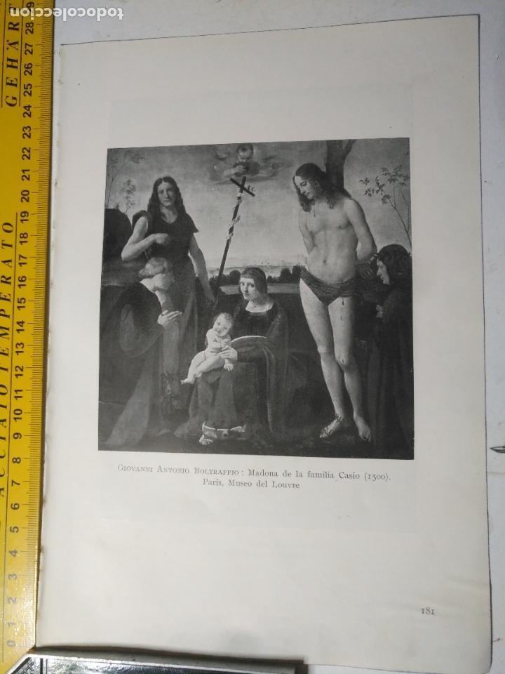 AÑO 1935 - RELIGIOSA - VIRGEN Y NIÑO JESUS MADONA DE LA FAMILIA CASIO (Arte - Huecograbado)