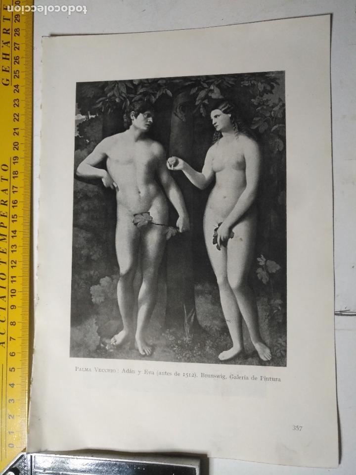 AÑO 1935 - RELIGIOSA - ADAN Y EVA (Arte - Huecograbado)