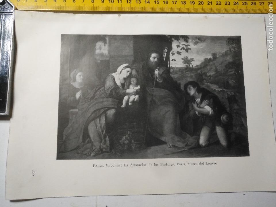 AÑO 1935 - RELIGIOSA - VIRGEN NIÑO JESUS LA ADORACION DE LOS PASTORES (Arte - Huecograbado)