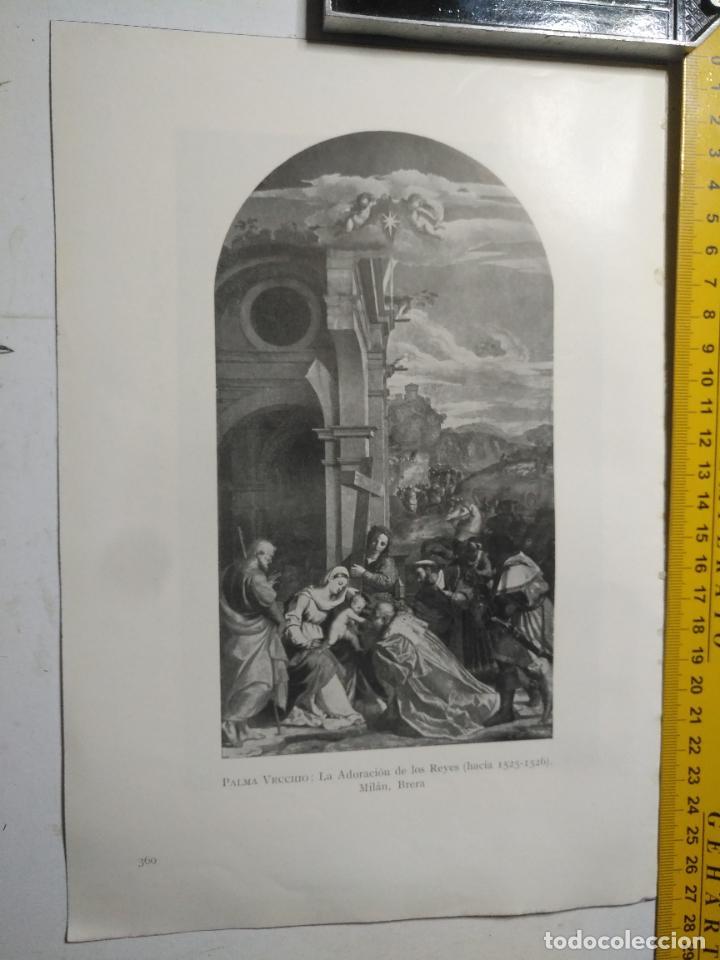 AÑO 1935 - RELIGIOSA - VIRGEN NIÑO JESUS LA ADORACION DE LO REYES (Arte - Huecograbado)