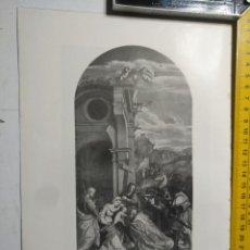 Arte: AÑO 1935 - RELIGIOSA - VIRGEN NIÑO JESUS LA ADORACION DE LO REYES. Lote 223144376